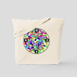 psych nurse clock yellow Tote Bag
