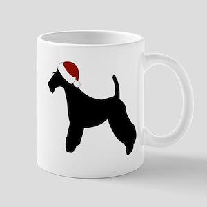 "Wire Fox ""Santa Hat"" Mug"