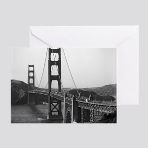 Vintage Golden Gate Bridge Greeting Card