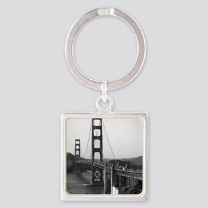 Vintage Golden Gate Bridge Square Keychain