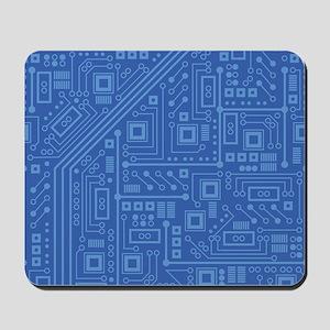 Blue Circuit Board Mousepad