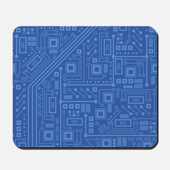 Blue Circuit Board Mousepad