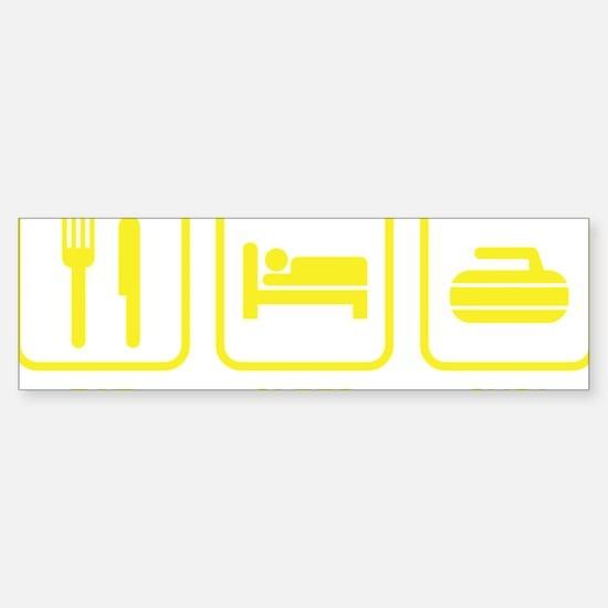 EatSleepCurl1D Sticker (Bumper)