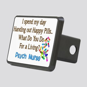 Psych Nurse I spend HAPPY  Rectangular Hitch Cover