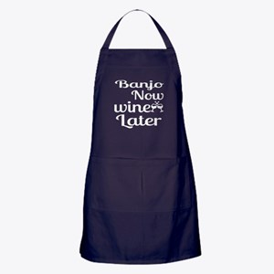 Banjo Now Wine Later Apron (dark)