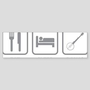 EatSleepBanjo1C Sticker (Bumper)
