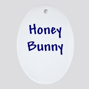 Honey Bunny Oval Ornament