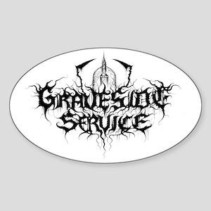 Gravesideservice logo banner Sticker (Oval)