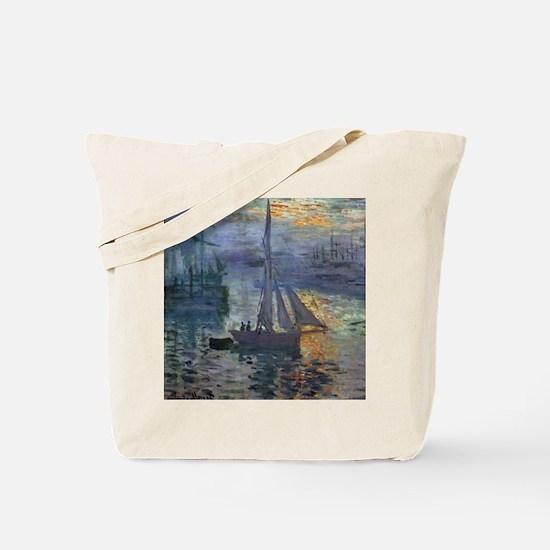 Claude Monet Sunrise At Sea Tote Bag