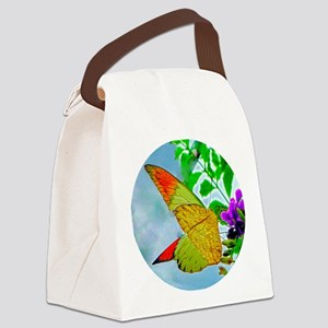 Fire In The Sky Butterfly Canvas Lunch Bag
