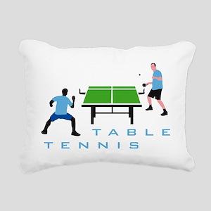 table tennis Rectangular Canvas Pillow