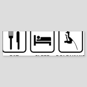 EatSleepPoleVault1A Sticker (Bumper)