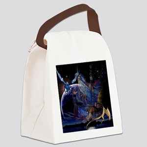 Dragons and  Wizzards Canvas Lunch Bag