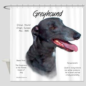 Greyhound Shower Curtain