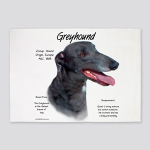 Greyhound 5'x7'Area Rug