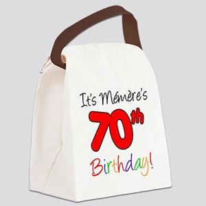 Memere 70th Birthday Canvas Lunch Bag