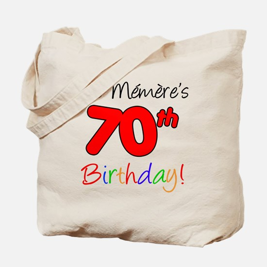 Memere 70th Birthday Tote Bag