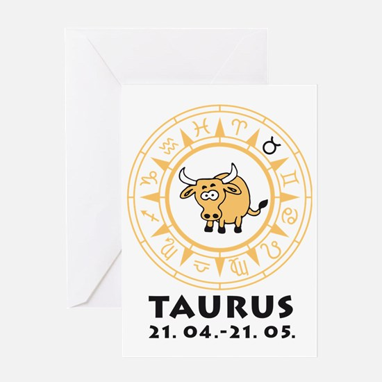 zodiac taurus/bull Greeting Card