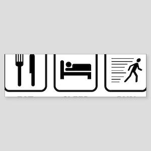 EatSleepRunn1A Sticker (Bumper)
