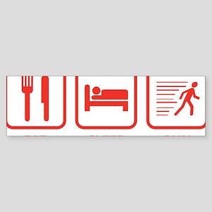 EatSleepRunn1E Sticker (Bumper)