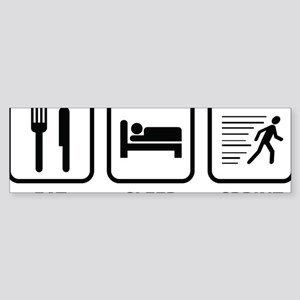 EatSleepSprint1A Sticker (Bumper)