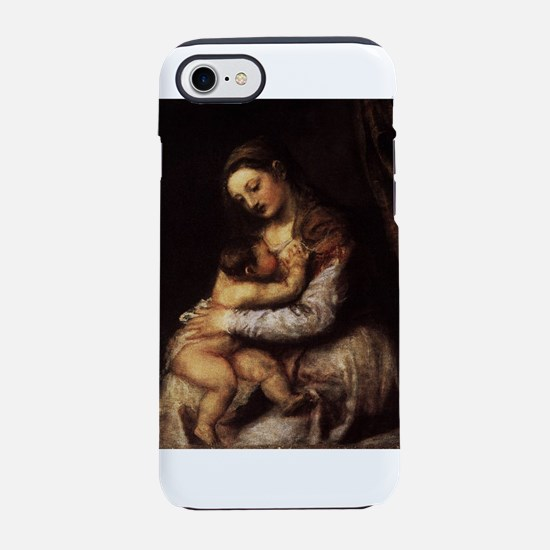 Madonna and child - Titian - c 1565 iPhone 7 Tough