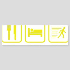 EatSleepSprint1E Sticker (Bumper)