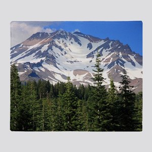 Mount Shasta 11 Throw Blanket