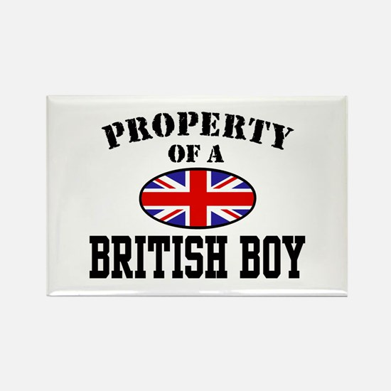 Property of a British Boy Rectangle Magnet