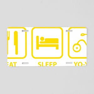 EatSleepYoyo1E Aluminum License Plate