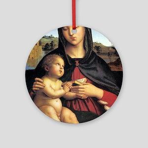 Madonna and Child - Raphael Round Ornament