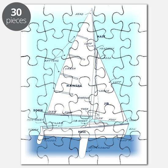SAILBOAT DIAGRAM (technical design) Puzzle