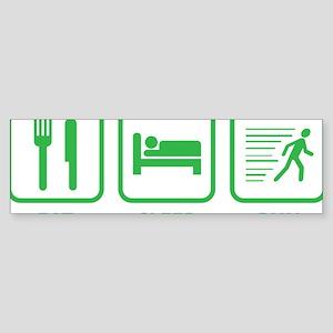 EatSleepRunn1C Sticker (Bumper)