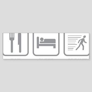 EatSleepSprint1C Sticker (Bumper)