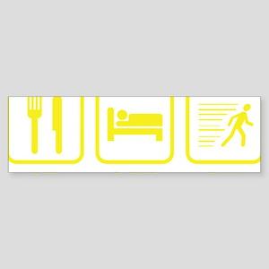 EatSleepRunn1D Sticker (Bumper)