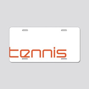 female tennis player Aluminum License Plate