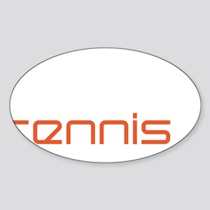 female tennis player Sticker (Oval)