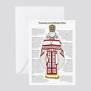 Orthodox christian greeting cards cafepress vestments of an orthodox priest greeting card m4hsunfo