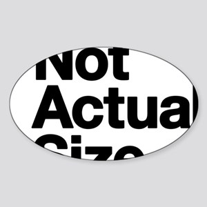 *Not Actual Size Sticker (Oval)
