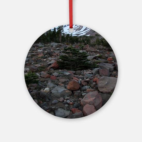 Mount Shasta 62 Round Ornament
