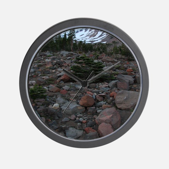 Mount Shasta 62 Wall Clock