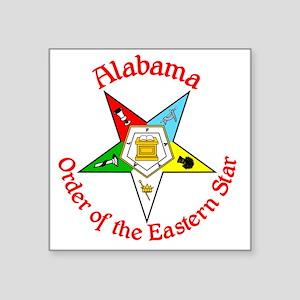 "Alabama Eastern Star Square Sticker 3"" x 3"""
