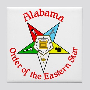 Alabama Eastern Star Tile Coaster