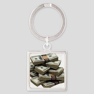 money Square Keychain