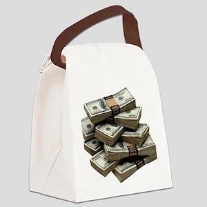 money Canvas Lunch Bag
