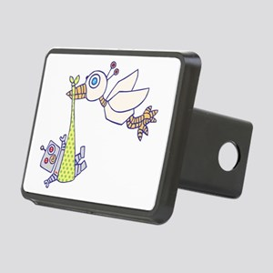 Robot Baby Delivery! Rectangular Hitch Cover