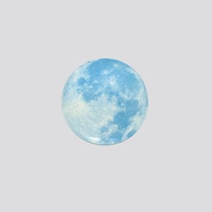 Blue Full Moon Mini Button