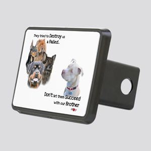Save the Pitbull Rectangular Hitch Cover