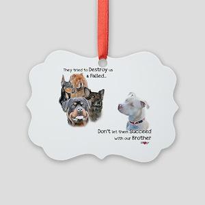 Save the Pitbull Picture Ornament