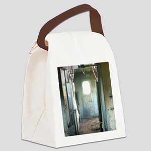 Inside Rustic Caboose Canvas Lunch Bag